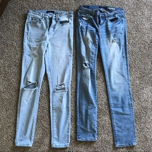 Aeropostale Skinny Highwaisted Blue Jeans Size 0